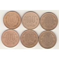 100 песо 1989, 1993, 1995,1996, 1999, 2000 г.