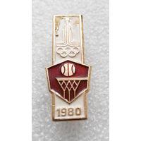 Значок. Олимпиада 1980 года. Баскетбол #0361