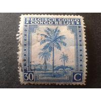 Конго 1942 колония Бельгии пальма
