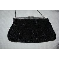 ВИНТАЖНАЯ СУМКА: Чешская театральная бисерная сумочка,*модная у нас в 1950е-1960е.
