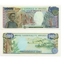 Руанда. 5000 франков (образца 1988 года, P22, UNC)