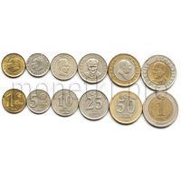 Турция 6 монет 2005-2008 годов (VF-XF)