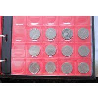 ПОЛНАЯ КОЛЛЕКЦИЯ Германия ФРГ 50 пфеннигов 1948-1994 все монетные дворы - 129 монет, погодовка без повторов!