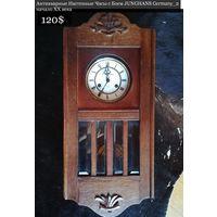 Антикварные Настенные Часы с Боем JUNGHANS Germany_2