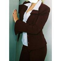 Бордовый костюм стильный, р.42-44