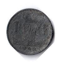 Бельгия. 1 франк. 1942 г. BELGIE - BELGIQUE