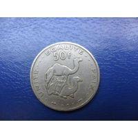 Джибути 50 франков 1991 г.