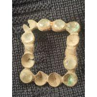 Старинная пряжка с камнями ВКЛ