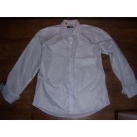 Рубашка белая с запонками 43 размер