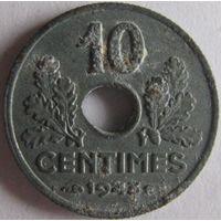 Франция 10 сантимов 1943
