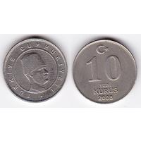 Турция 10 куруш 2008
