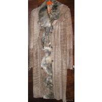 Дубленка, Пальто женское кожаное, М(48 р-р), Турция