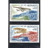Монако.Ми-757,758.Авиация.Самолеты.Биплан Фарман.Моноплан Ньюпорт.Серия: 50-летие первого полета в Монако.1964.