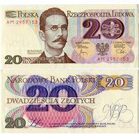 Польша. 20 злотых 1982 [UNC]