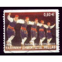 1 марка 2002 год Греция Танцоры диско 2095