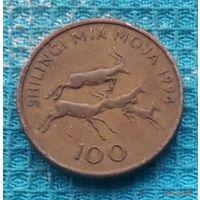 Танзания 100 шилингов 1994 года. Восточная Африка.