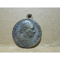 Медаль католическая Святой Папа Римский Пий ХI-й.Ватикан Италия 1922-1939 г