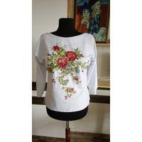 Эксклюзивная вышитая блузка - Летние цветы