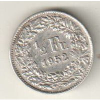 Швейцария 1/2 франк 1952