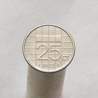 Нидерланды 25 центов 1992