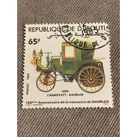 Джибути 1984. Классические автомобили. Cannstatt Daimler 1896. Марка из серии