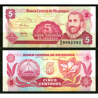 Никарагуа. 5 центаво. UNC