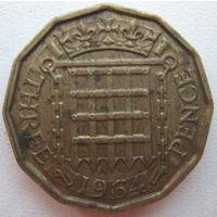 Великобритания 3 пенса 1964 г. (d)