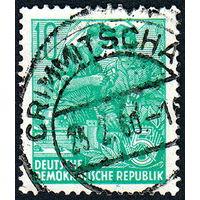 130: Германия (ГДР), почтовая марка, 1953 год