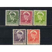 Дания Колонии Гренландия 1950 Фредерик IX Стандарт #28-32