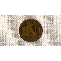 Бельгия 2 сантима 1863 /лев//(ON)