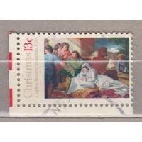 Рождество религия угловая  США 1976 год лот 1063 можно раздельно