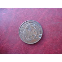 2 цента 1967 год Новая Зеландия