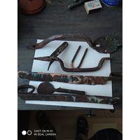 Старинные кованые дверные ручки с рубля. Цена за все