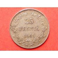 25 пенни 1909 года