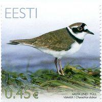 Эстония 2012 г. Фауна. Птица года. Зуек.