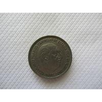 50 песет 1957 (59) Испания КМ# 788 медно-никелевый сплав