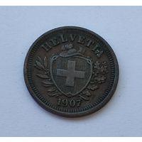Швейцария 1 раппен, 1907 7-5-25