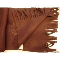 Шарф коричневый флис 128 см  х 23 см НОВЫЙ