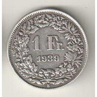 Швейцария 1 франк 1939