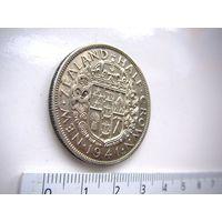 Новая Зеландия (Георг VI) 1/2  кроны 1941 г.  серебро