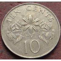 3814:  10 центов 1986 Сингапур