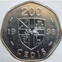 Гана, 200 седи 1998 год