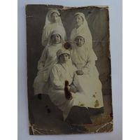 """Фото """"Мед сёстры"""" до 1917 г. Размер 8.5-13.3 см."""